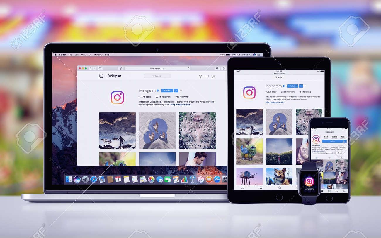 Instagram on the Apple iPhone 7 iPad Pro Apple Watch and Macbook Pro - 79688653