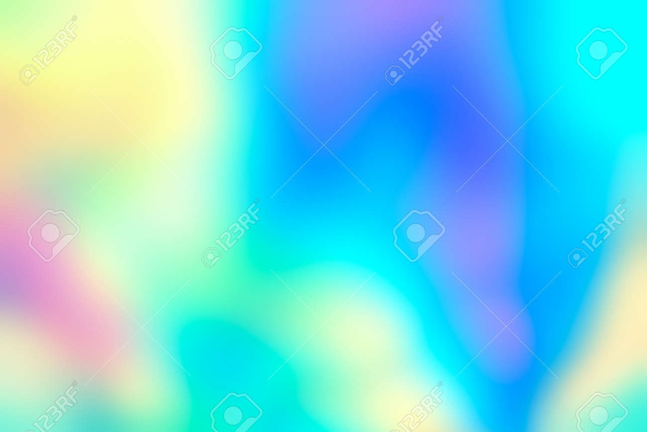Holographic neon background. Abstract blurred holographic wallpaper background. Stock Photo - 100080456