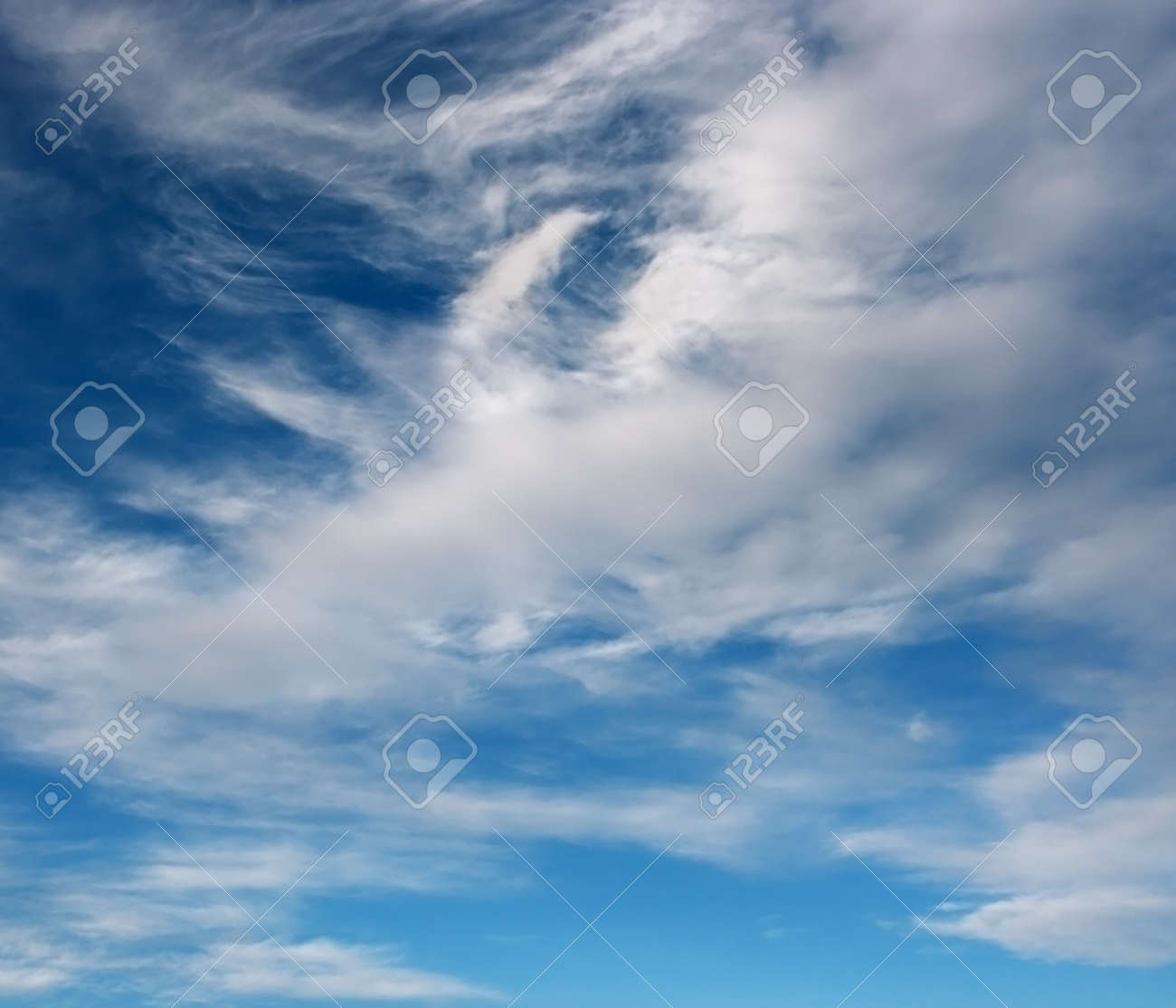 Spring sky over horizon and clouds Stock Photo - 17439319