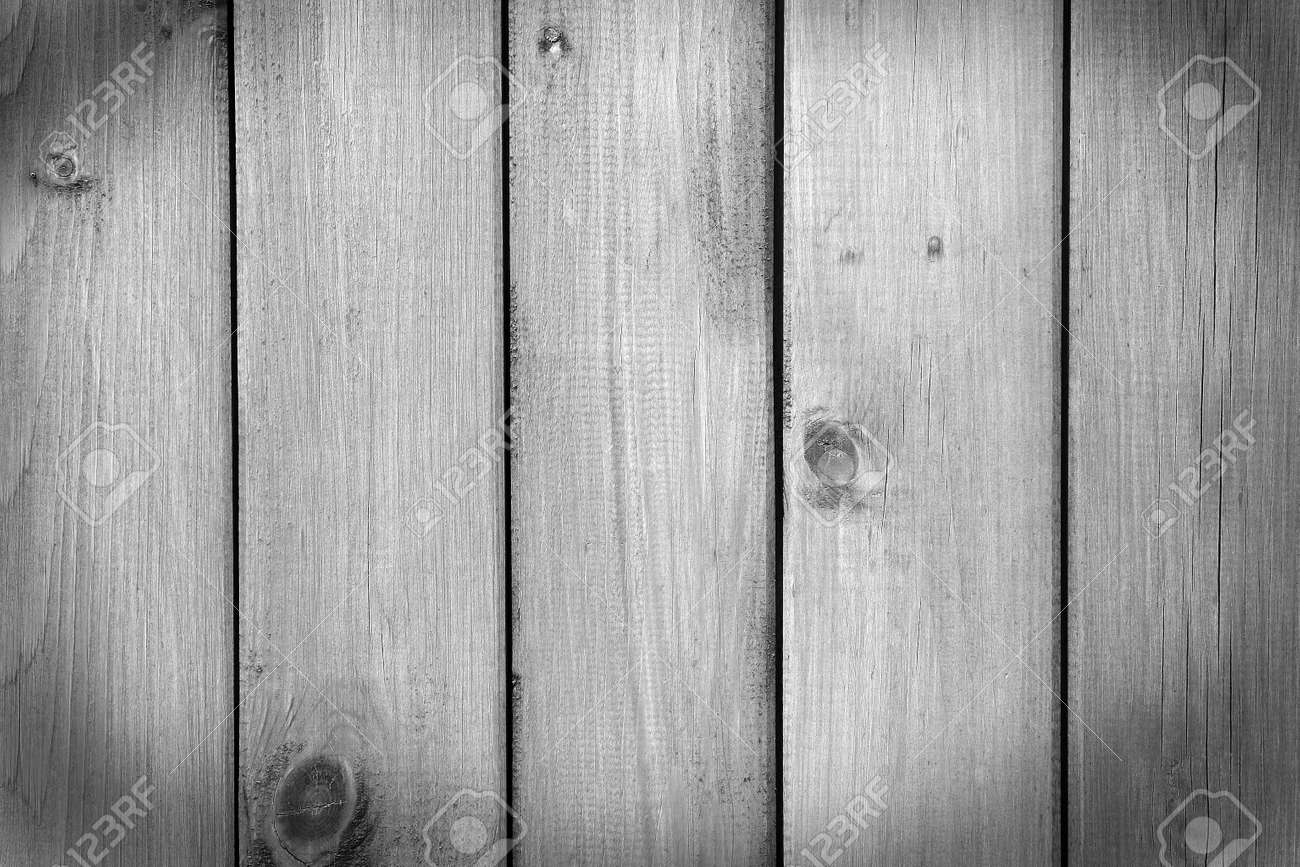 Old Grey Wooden Background Rustic Fence Black And White Shot Stock Photo