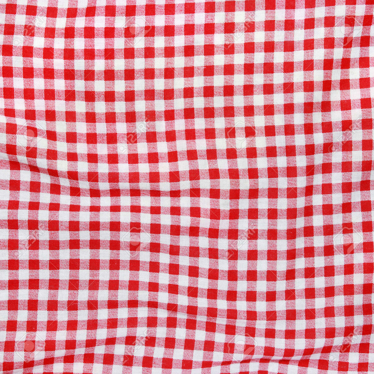 Merveilleux Stock Photo   Texture Of A Red And White Checkered Picnic Blanket Red Linen  Crumpled Table Cloth