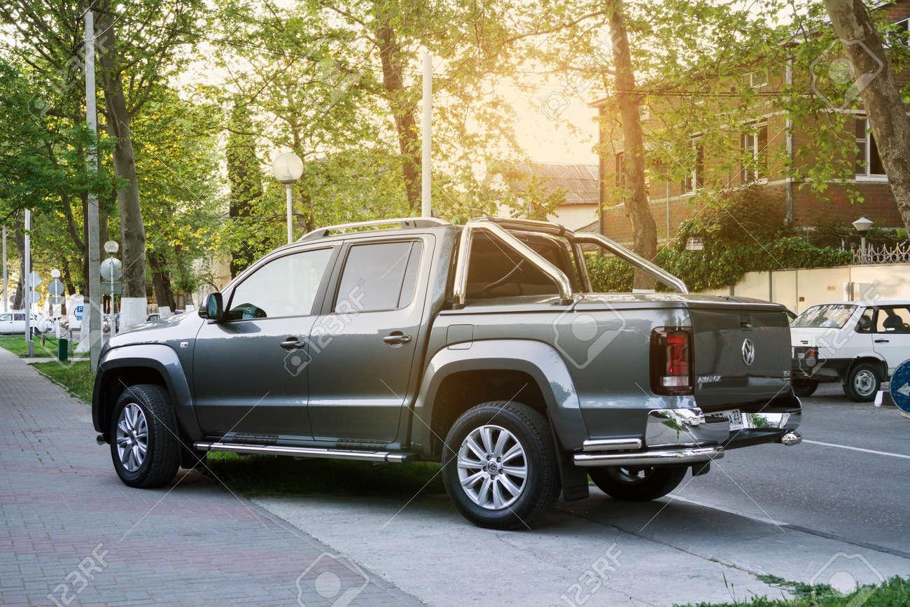 SOCHI, RUSSIA - APRIL 29, 2016:Volkswagen Amarok parked on the