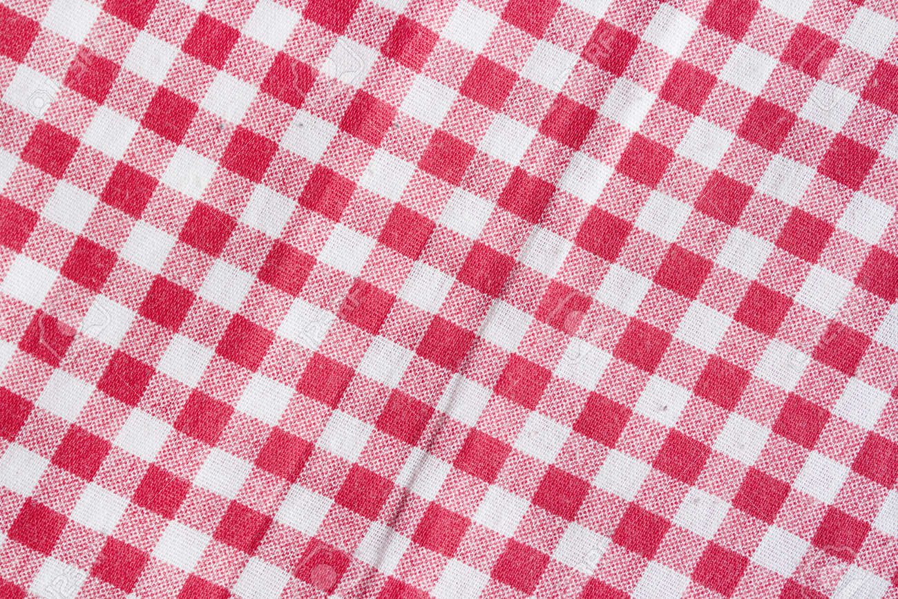Exceptionnel Red And White Checkered Picnic Tablecloth. Red Picnic Tablecloth  Background. Stock Photo   59975932