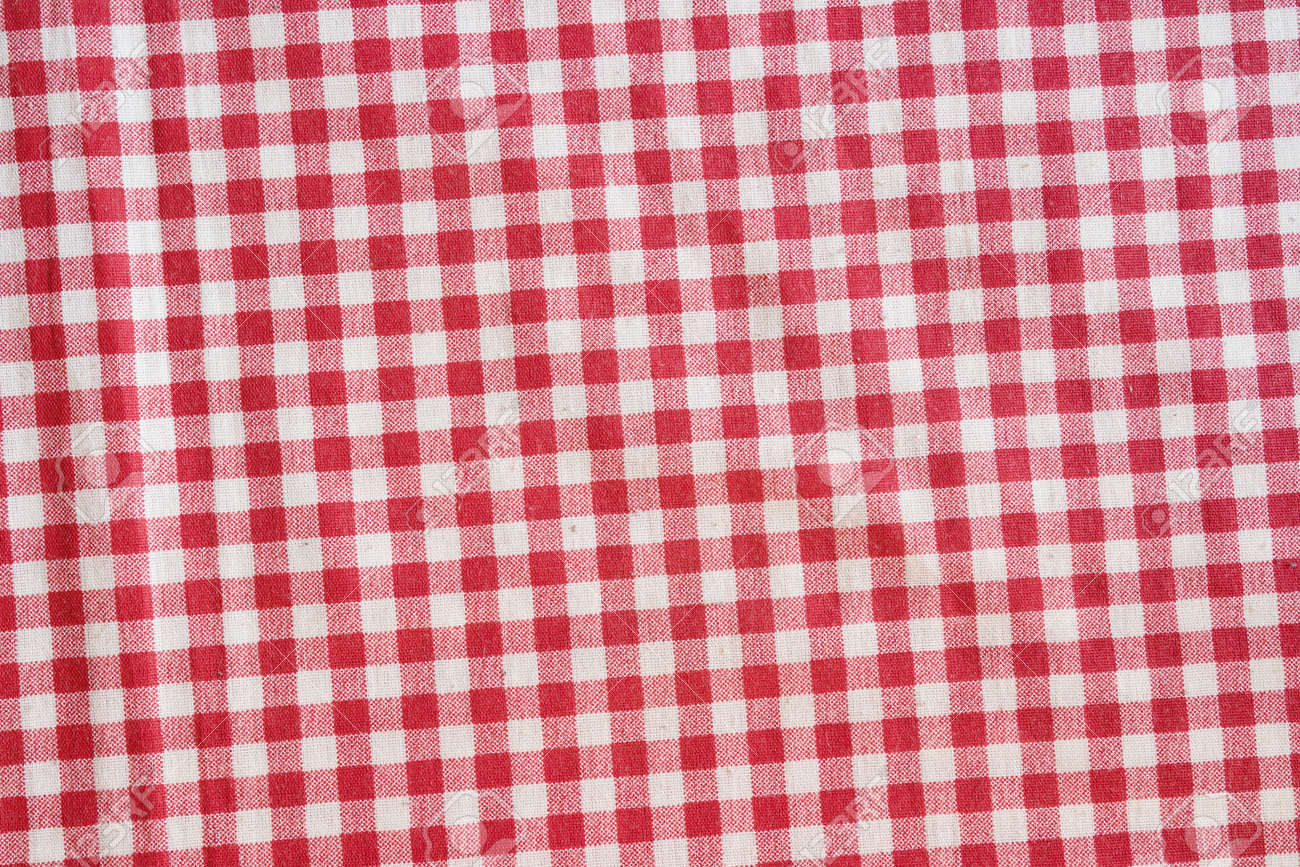 Incroyable Red Picnic Tablecloth Background. Red And White Checkered Fabric Texture.  Stock Photo   64596169