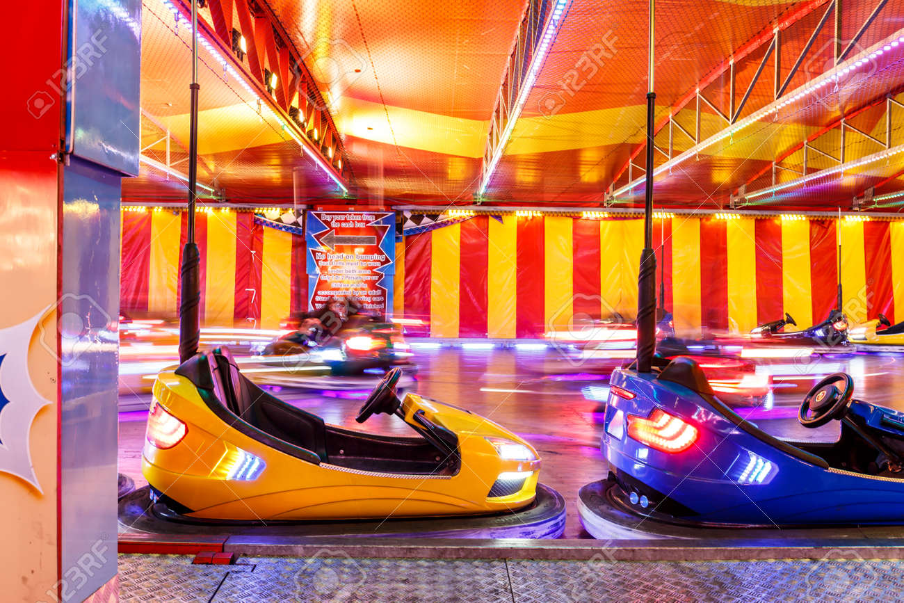 Funfair Christmas Cars Hyde Park London Stock Photo Picture And