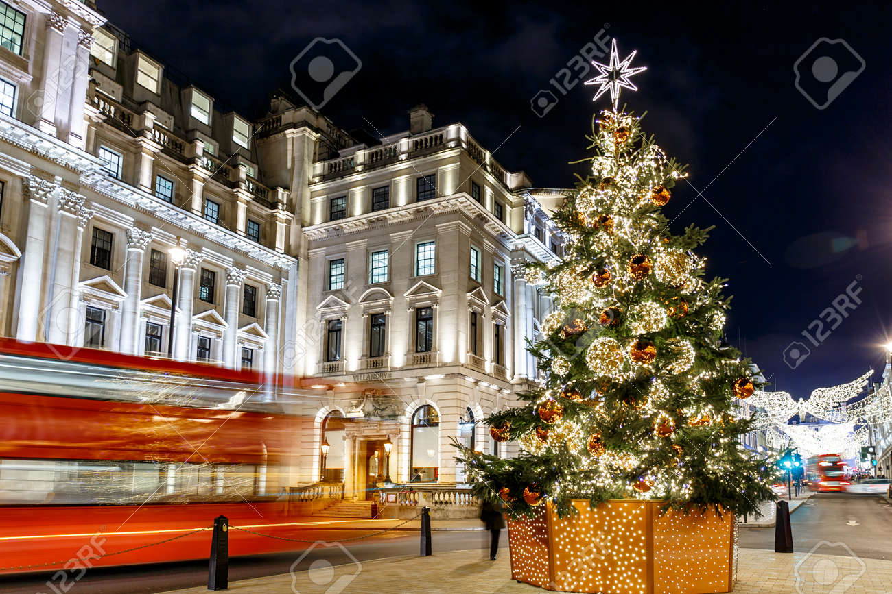 England Christmas Tree.Christmas Tree On Waterloo Place In 2016 London England