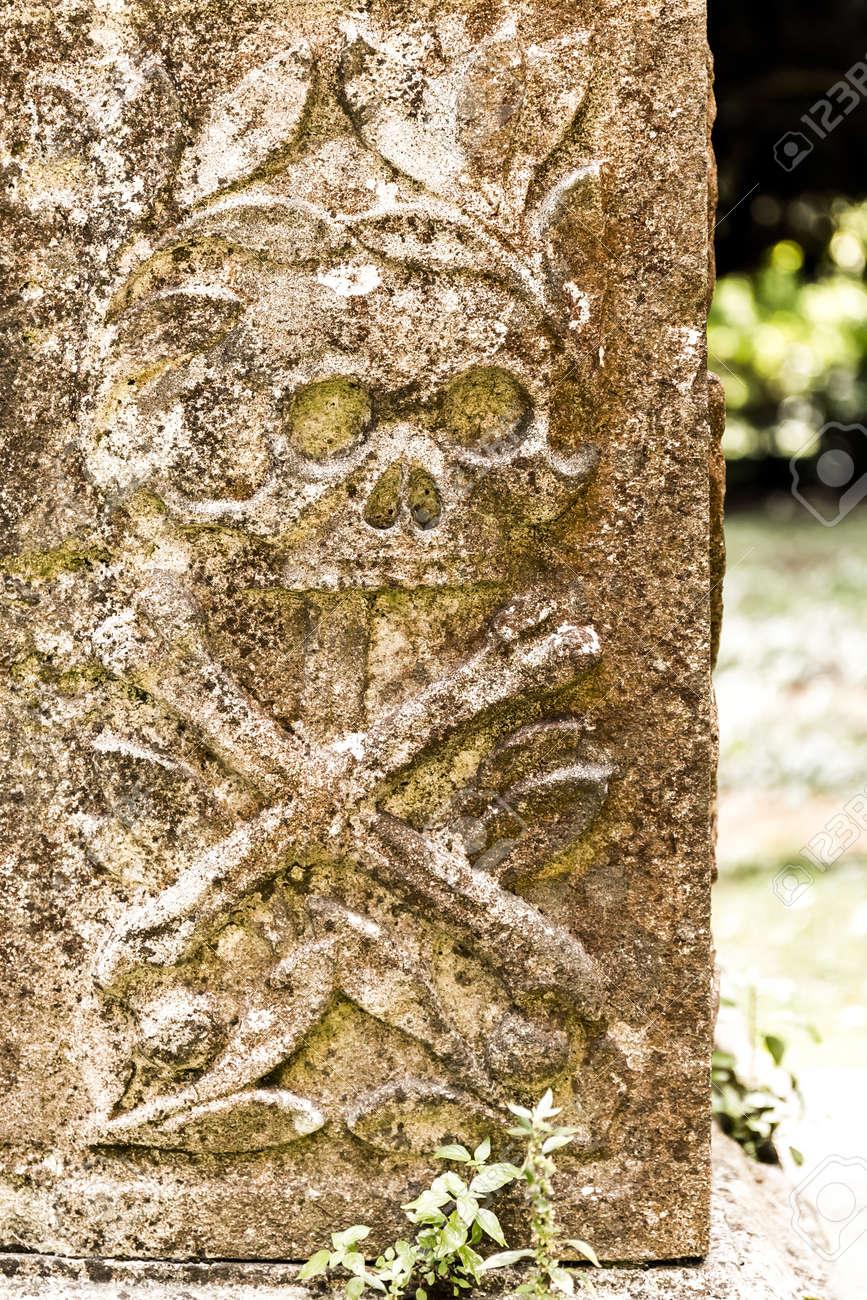 Craneo Decoracion De Piedra Tumba Inglaterra Fotos Retratos - Piedra-decoracion