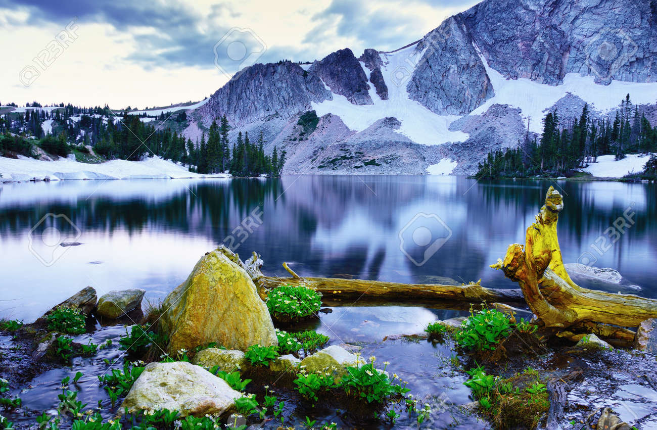 Banff National Park Bow Lake Alberta Canada stock photo