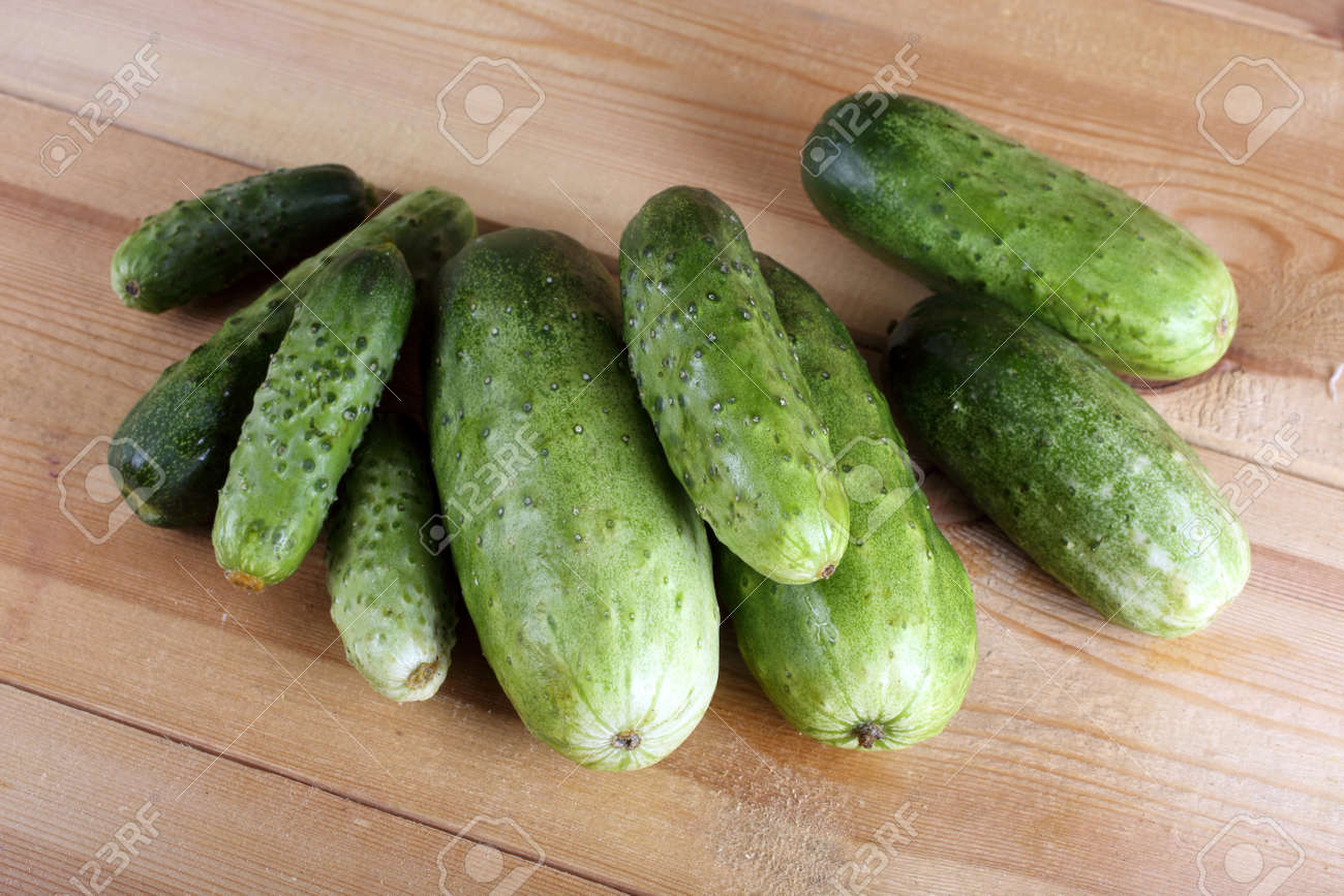 Cucumbers on table - 146275418
