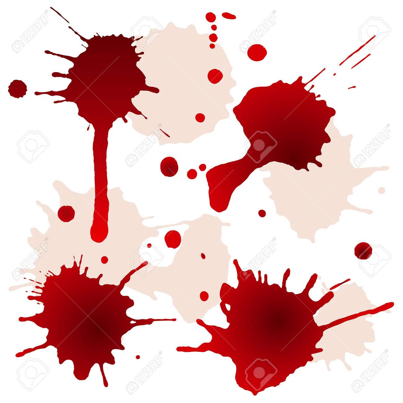 Splattered blood stains, vector illustration - 14666248