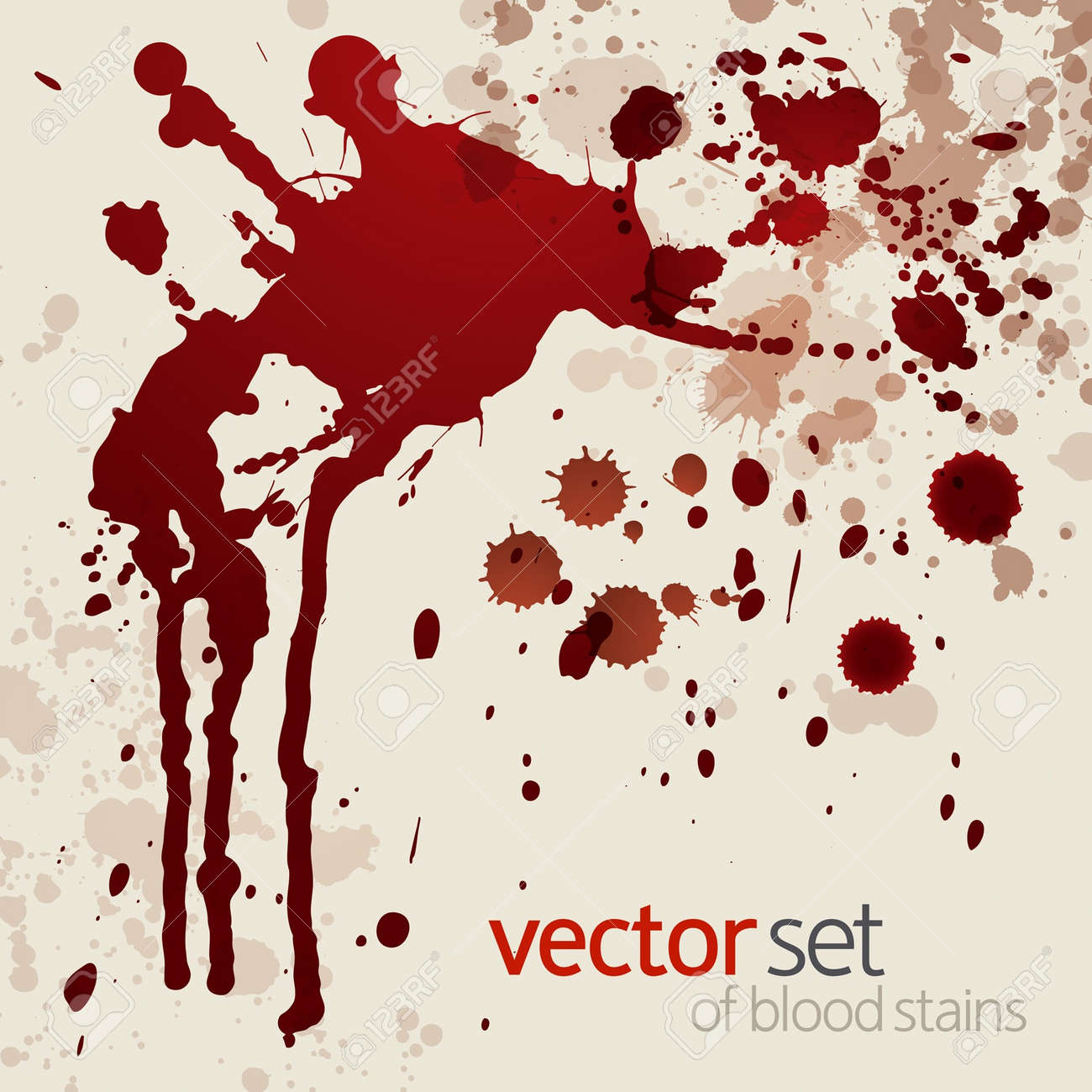Splattered blood stains,background Stock Vector - 14792100