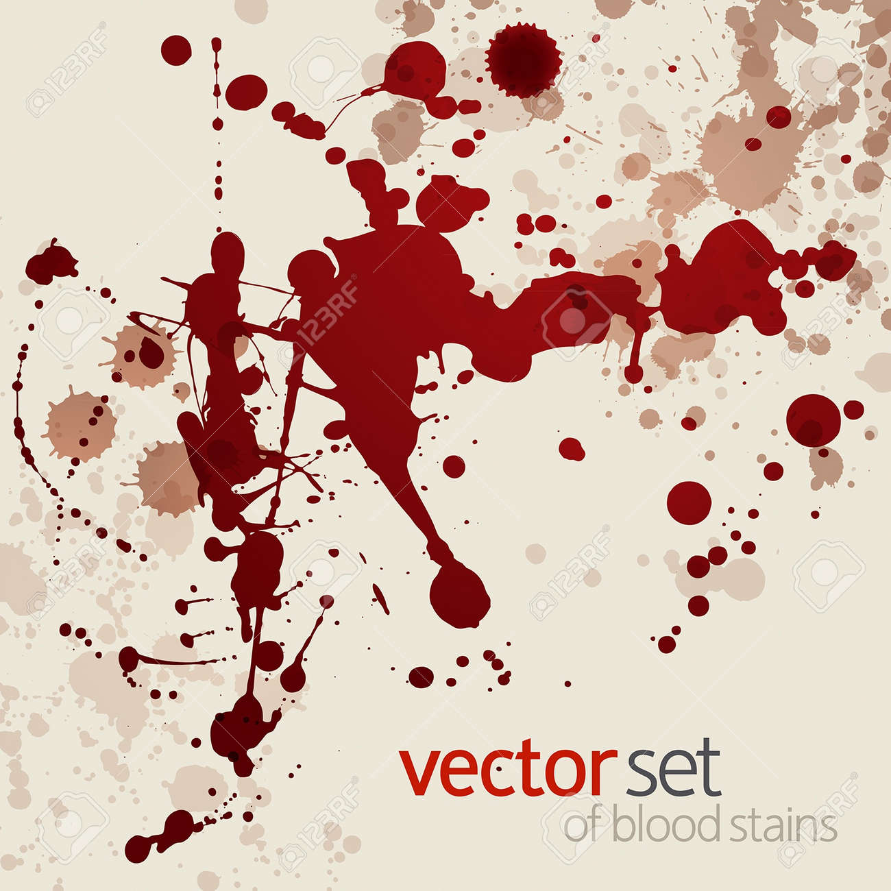 Splattered blood stains,background Stock Vector - 14792101