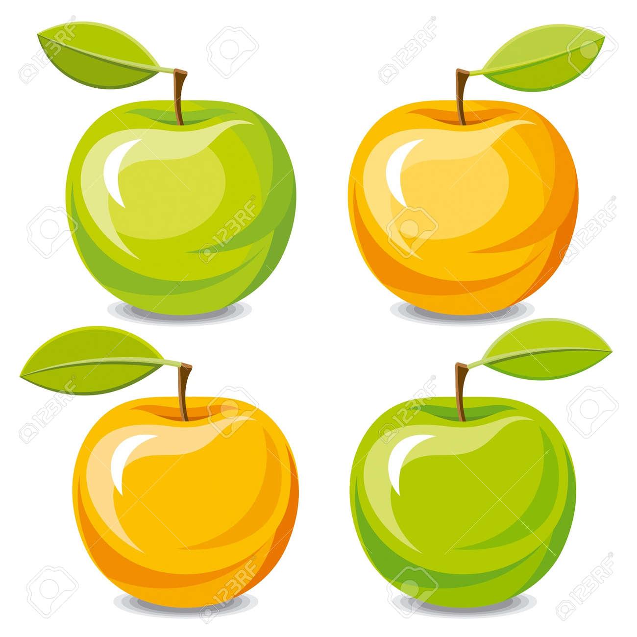 orange apple clipart. set of vector apples stock - 14923044 orange apple clipart