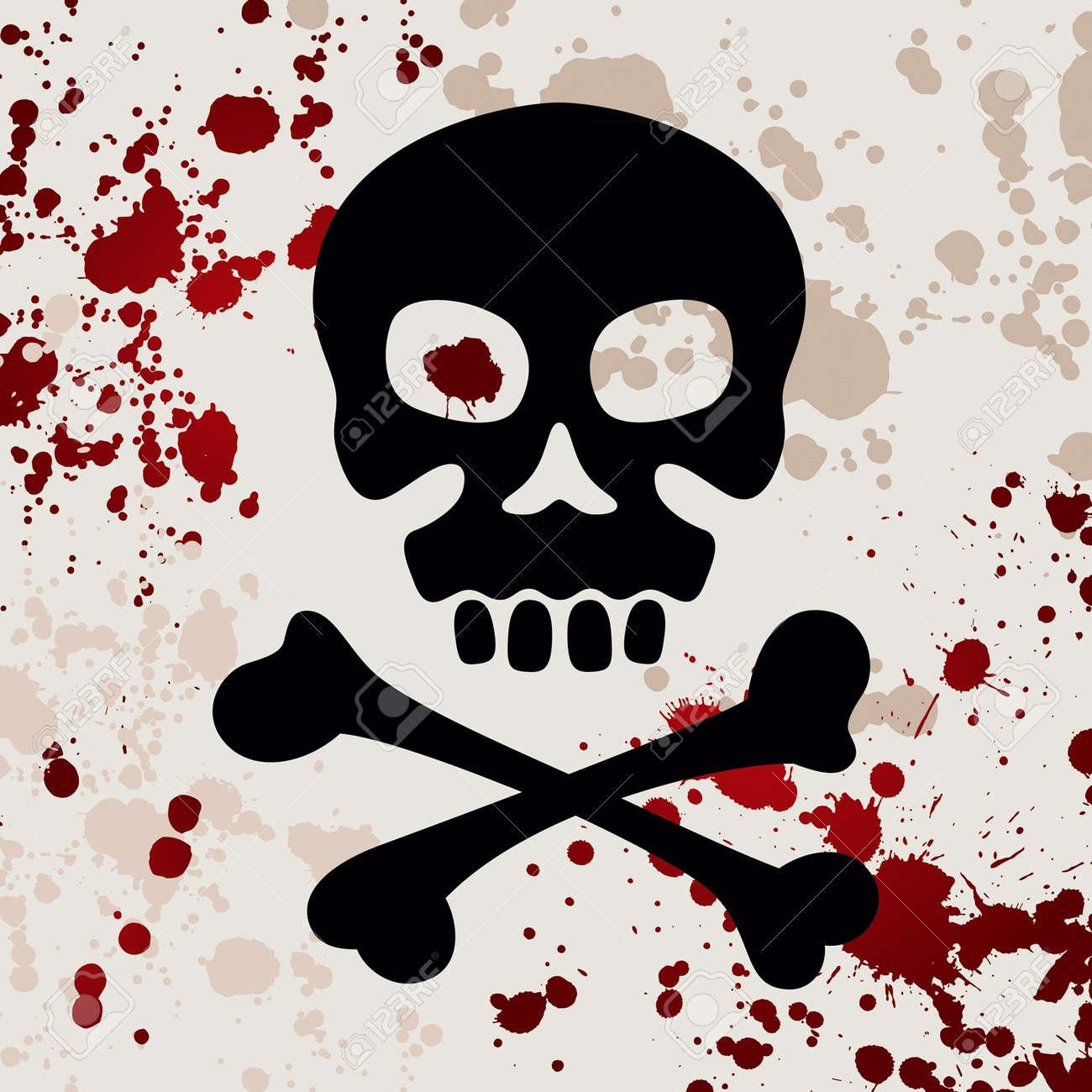 Skull with crossbones, vector illustration Stock Vector - 15404923