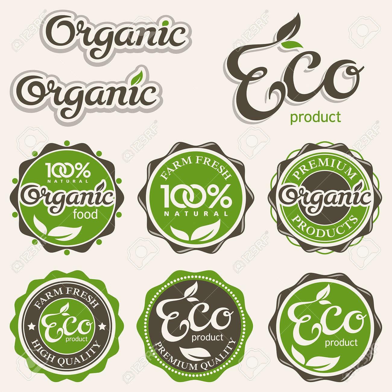 Set of eco labels - 15566438