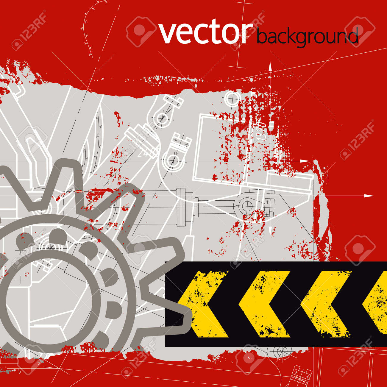 Grunge technology background, vector illustration Stock Vector - 16282208