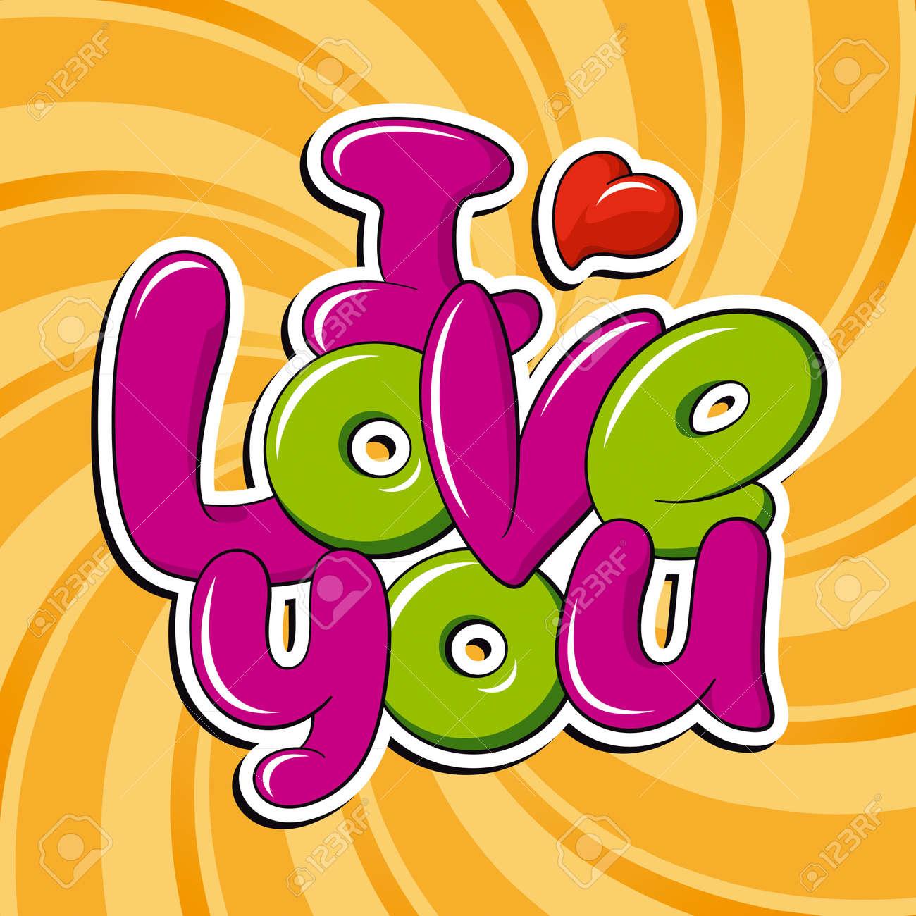 I Love You, vector inscription - 18671338