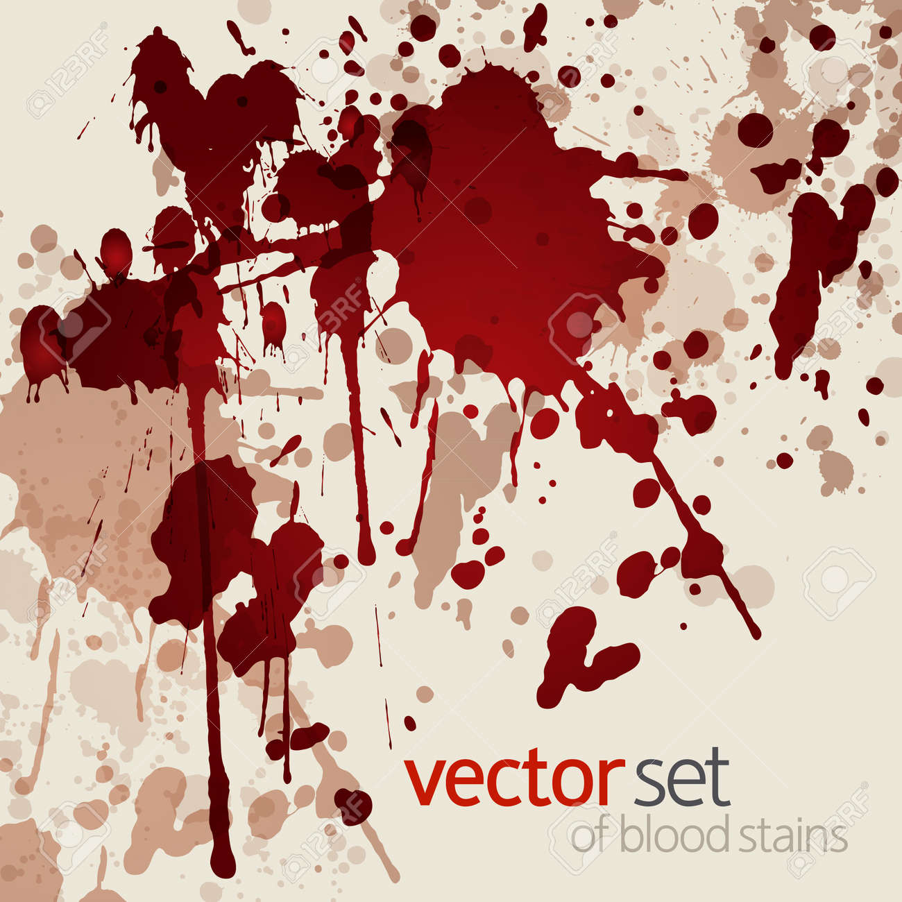 Blood stains, vector illustration - 19116701
