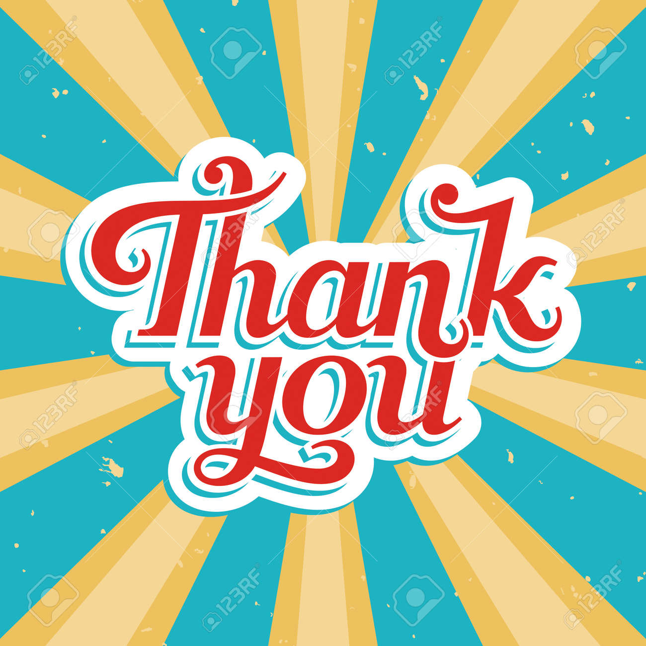 Thank You, vector illustration in old style - 19533582