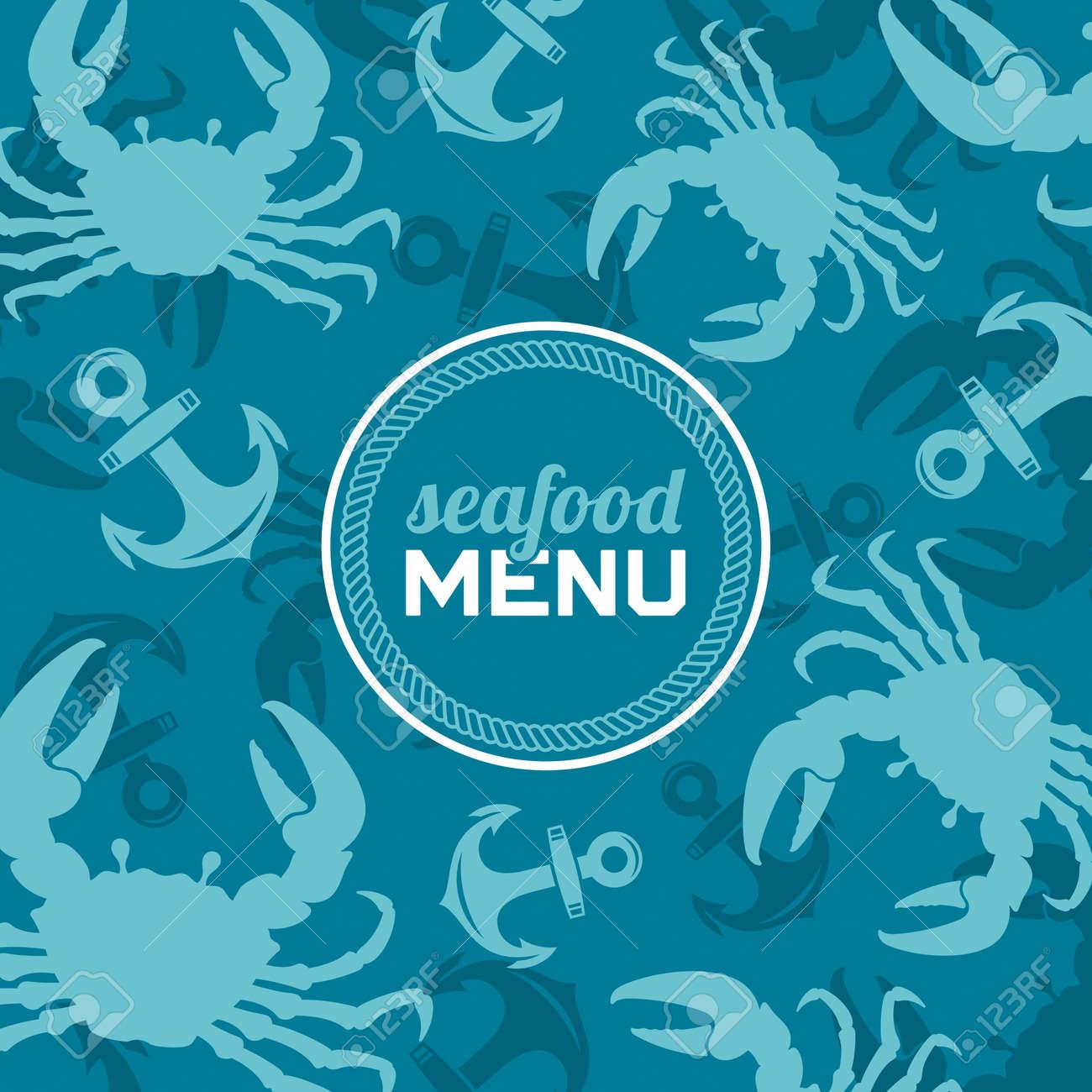 Seafood menu, vector illustration - 21150202