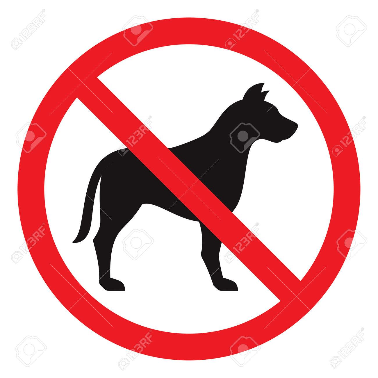 No dog sign, vector illustration - 21781387