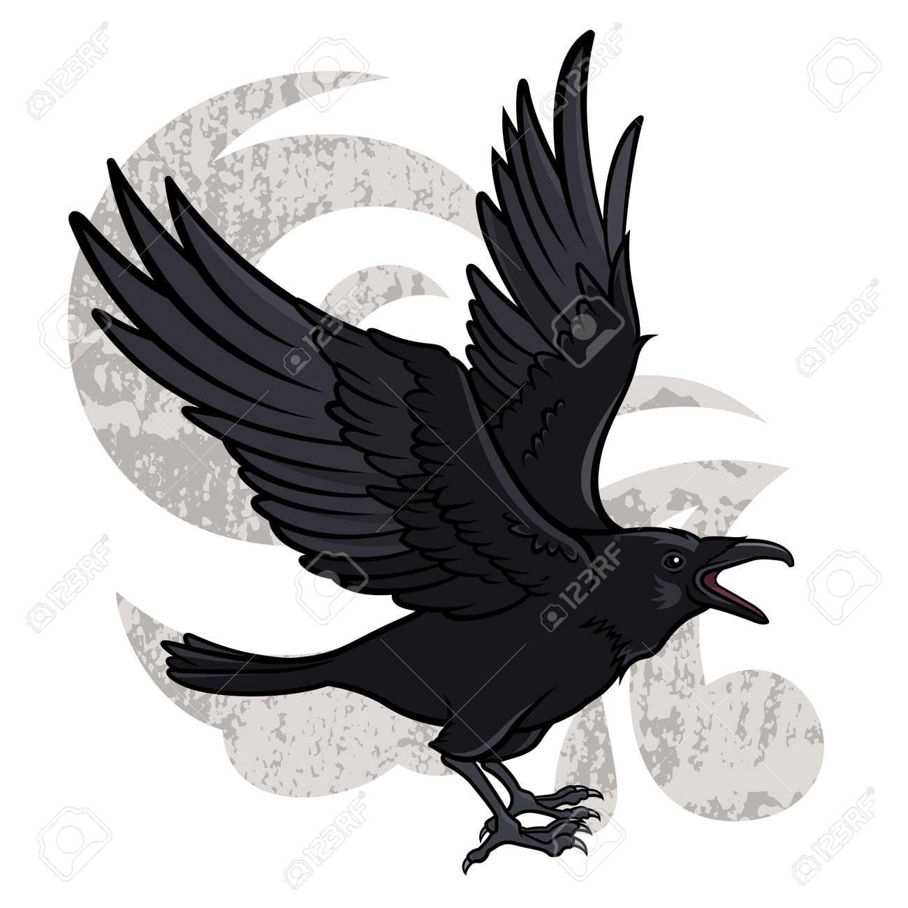 617 raven vector stock vector illustration and royalty free raven