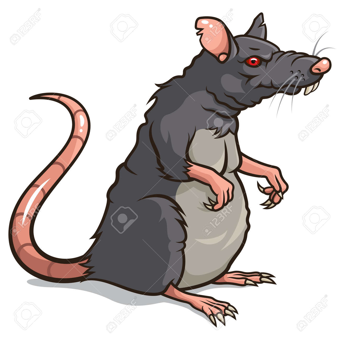 illustration of a Rat isolated on a white background - 29494150