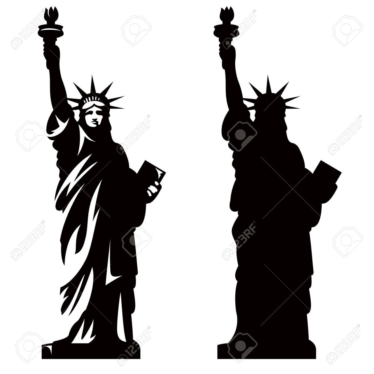 Statue of Liberty. New York landmark. American symbol. Vector silhouette - 36804879