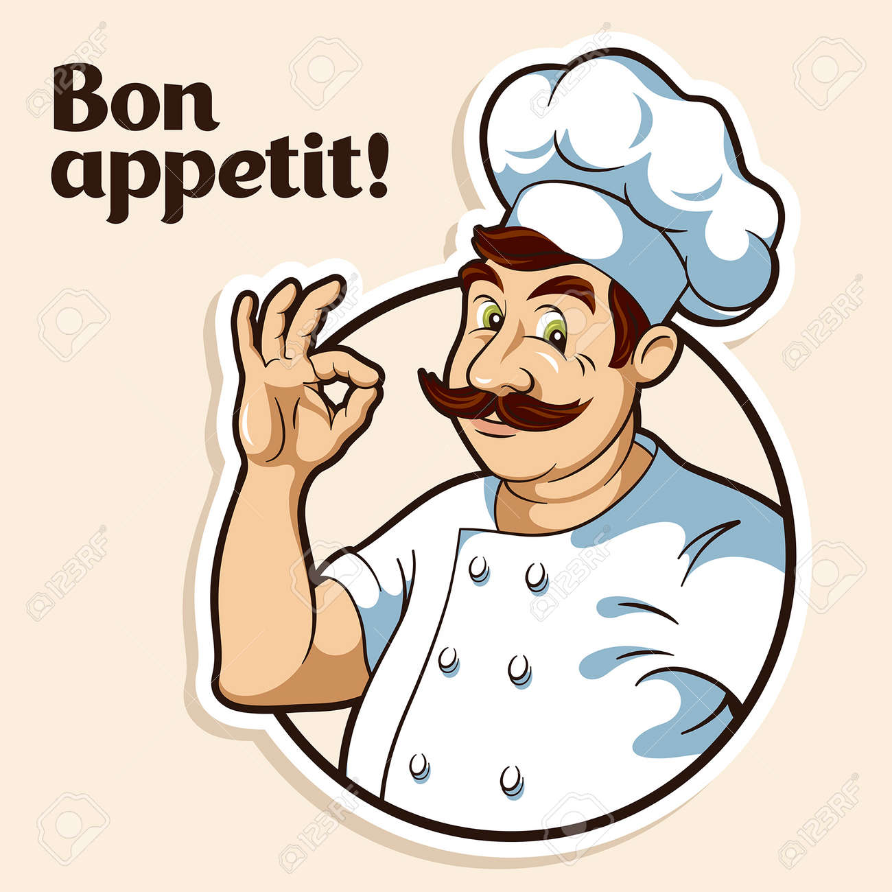 Illustration of a chef - 48552065
