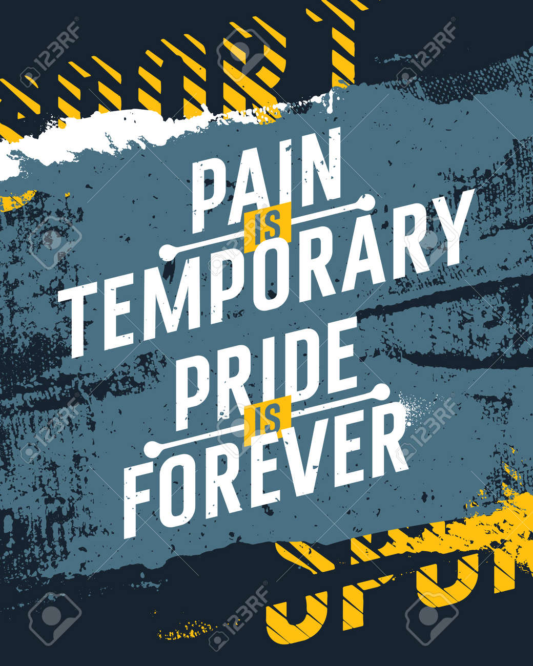 Typographic Creative Fitness Poster Concept Pain Is Temporary Pride Forever