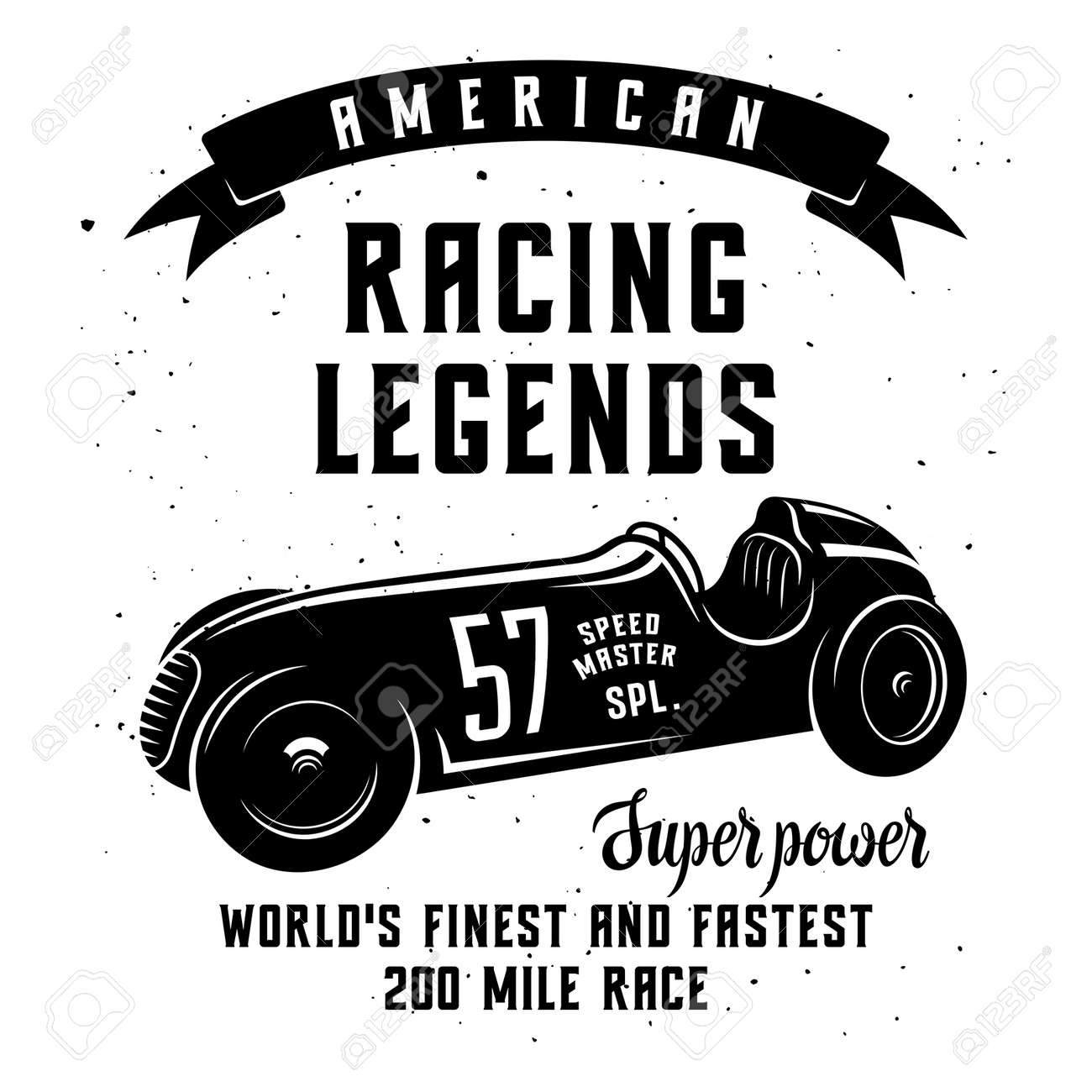 Racing Car T Shirt Graphics Speed Racer Graphic Tee American