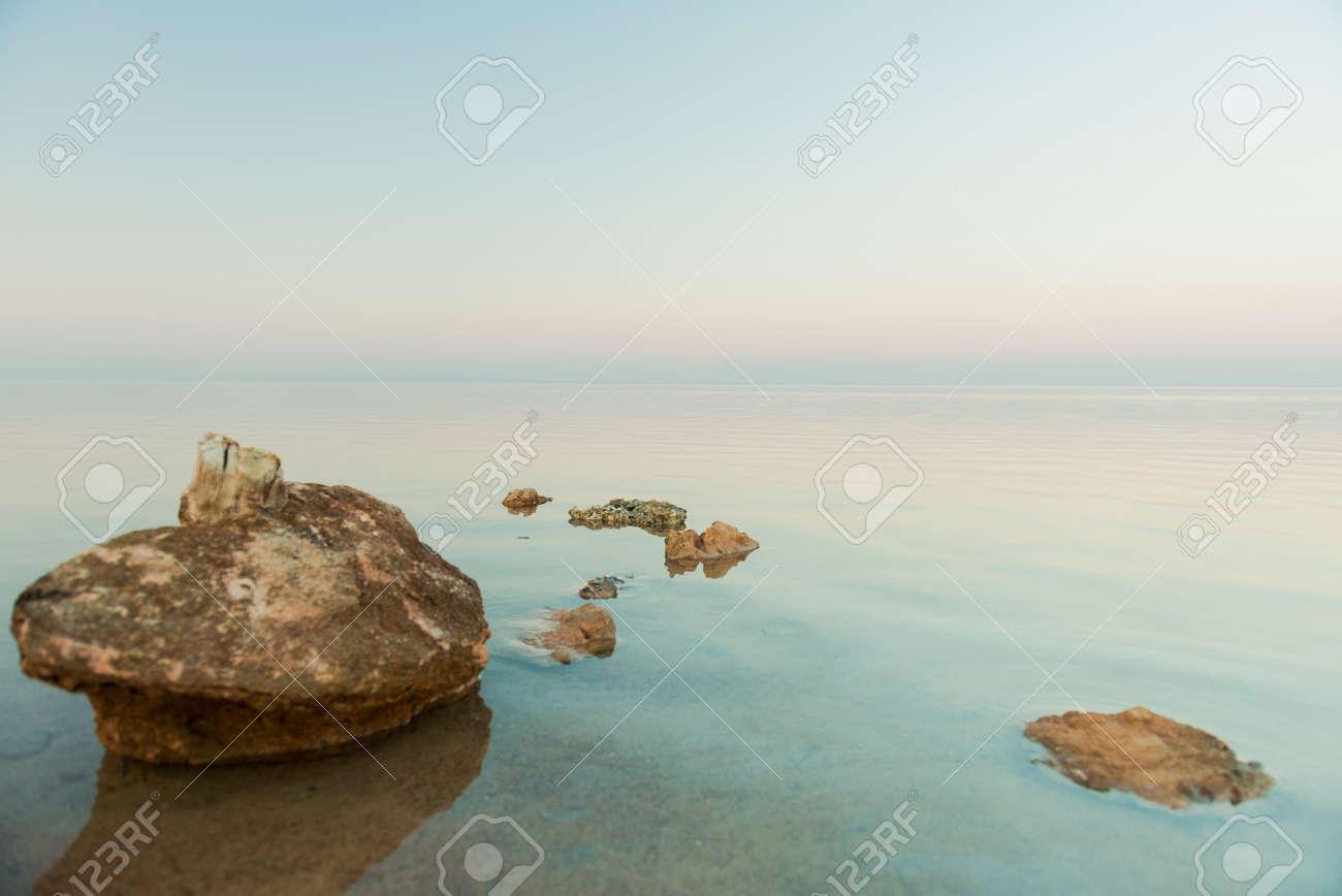 summer season seascape view at sunset - 127951890