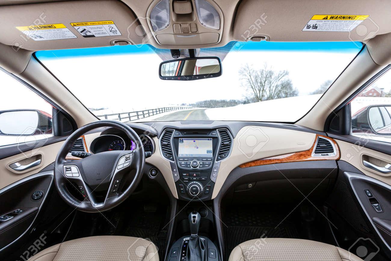 Modern car interior - 28911745