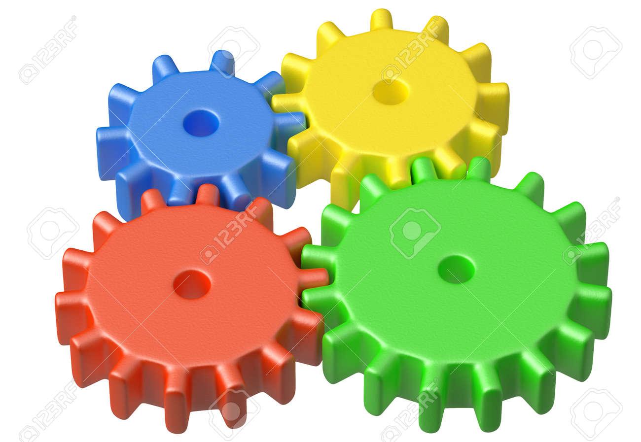 Preschool Technical Education Concept: Colorful Plastic Toys.. Stock ...