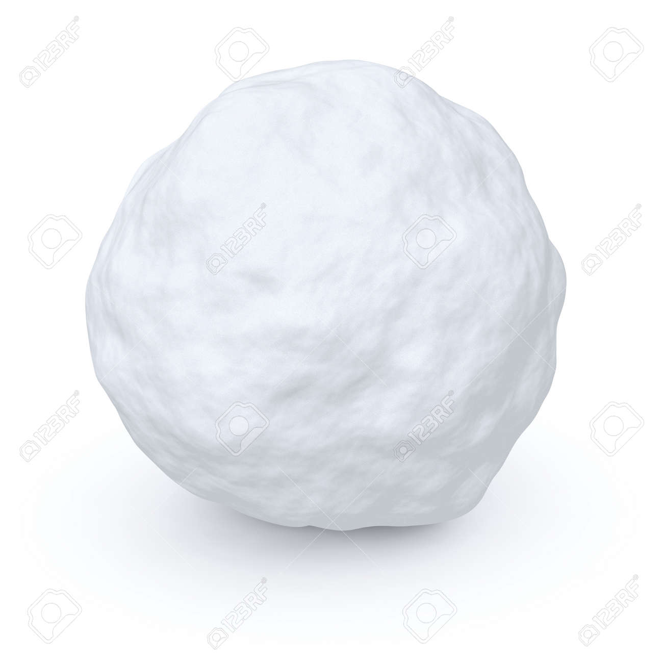 One snowball isolated on white background - 33886400