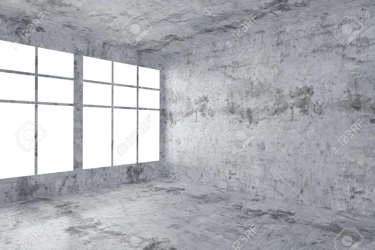 Beton In Interieur : Abstract architecture béton intérieur de la chambre: vide chambre