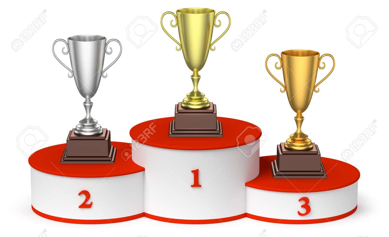 Deportes Y Ganadores Del Campeonato Y El éxito Competición Concepto