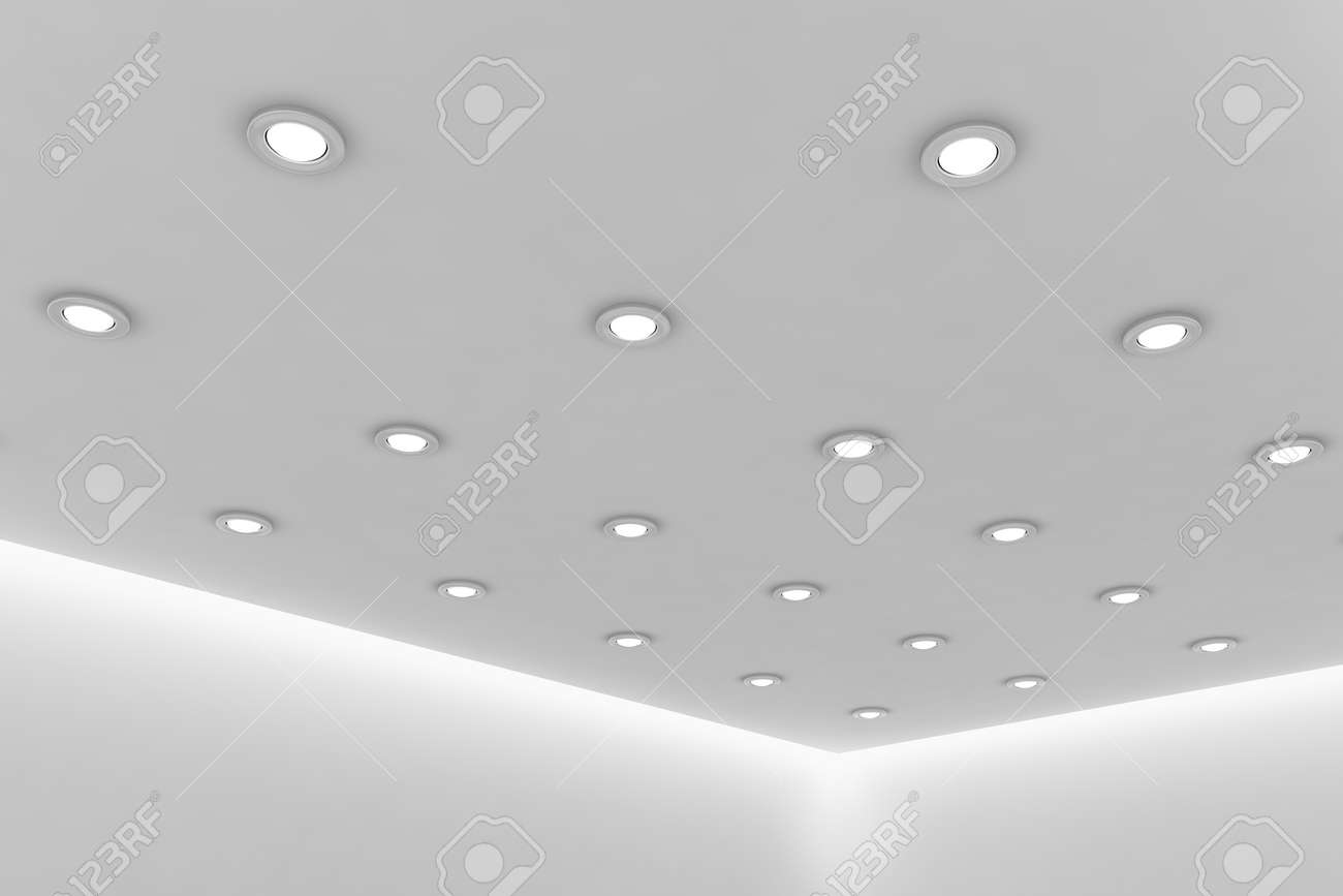office ceiling lamps. Abstract Architecture White Room Interior - Office Ceiling Of Empty With Wall, Lamps N