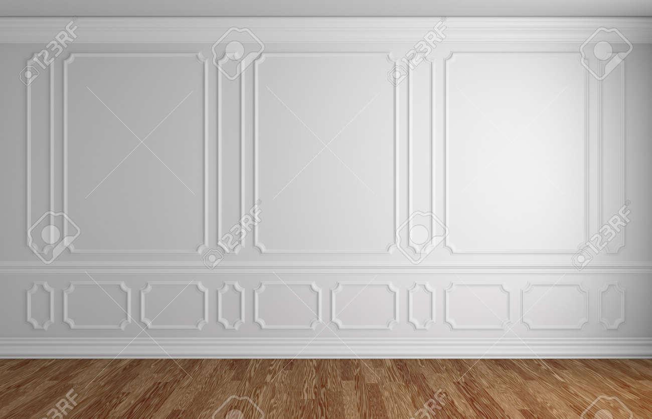Mur Blanc Avec Blanc L Ments De Moulures D Coratives Sur Le Mur