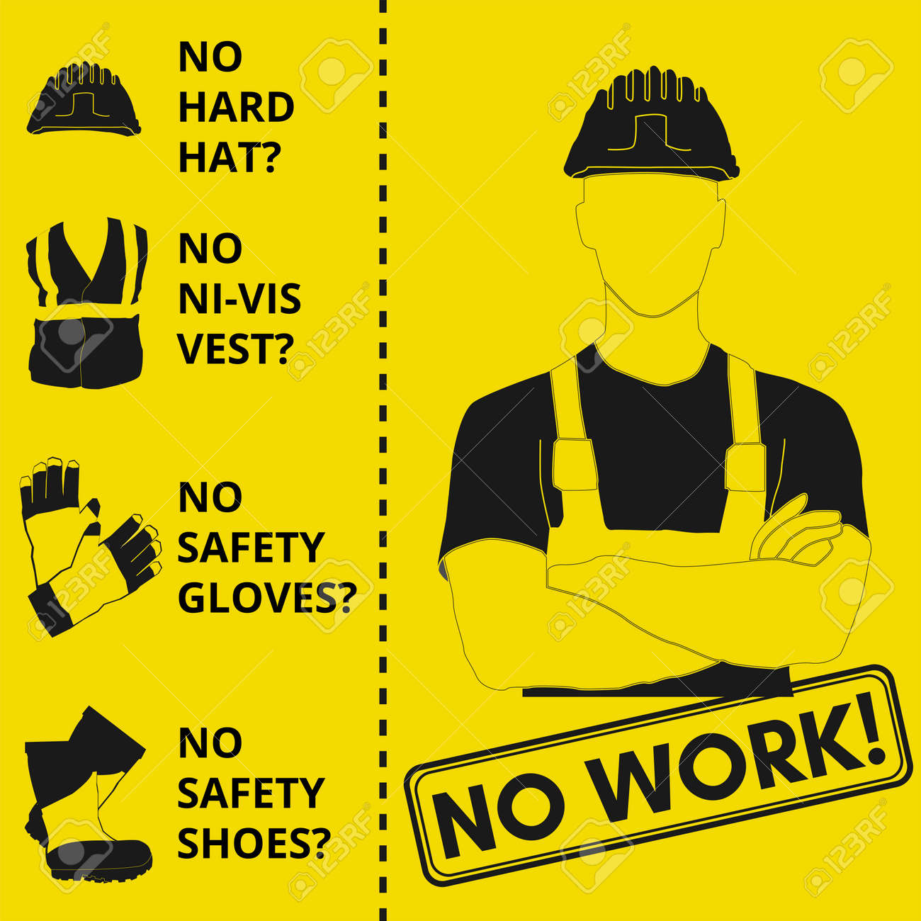 Personal Protective Equipment And Wear Set Will Be Use For Occupational Royalty Free Cliparts Vectors And Stock Illustration Image 124528926