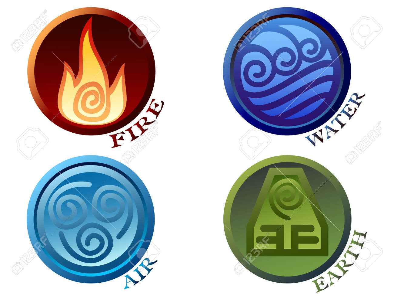 Symbols of four elements Stock Vector - 7645585