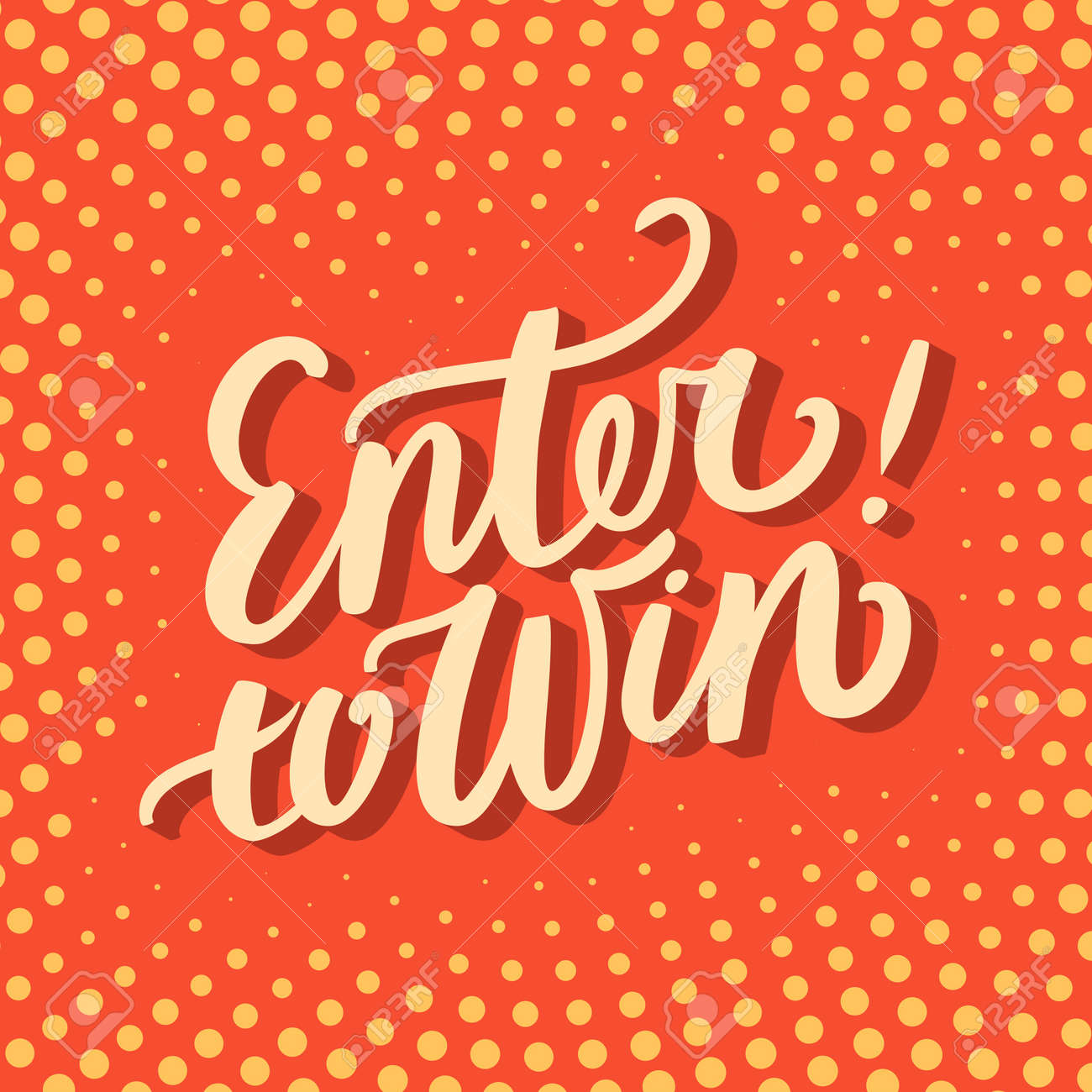 enter to win stock photos pictures royalty enter to win enter to win enter to win hand lettering vector hand drawn illustration