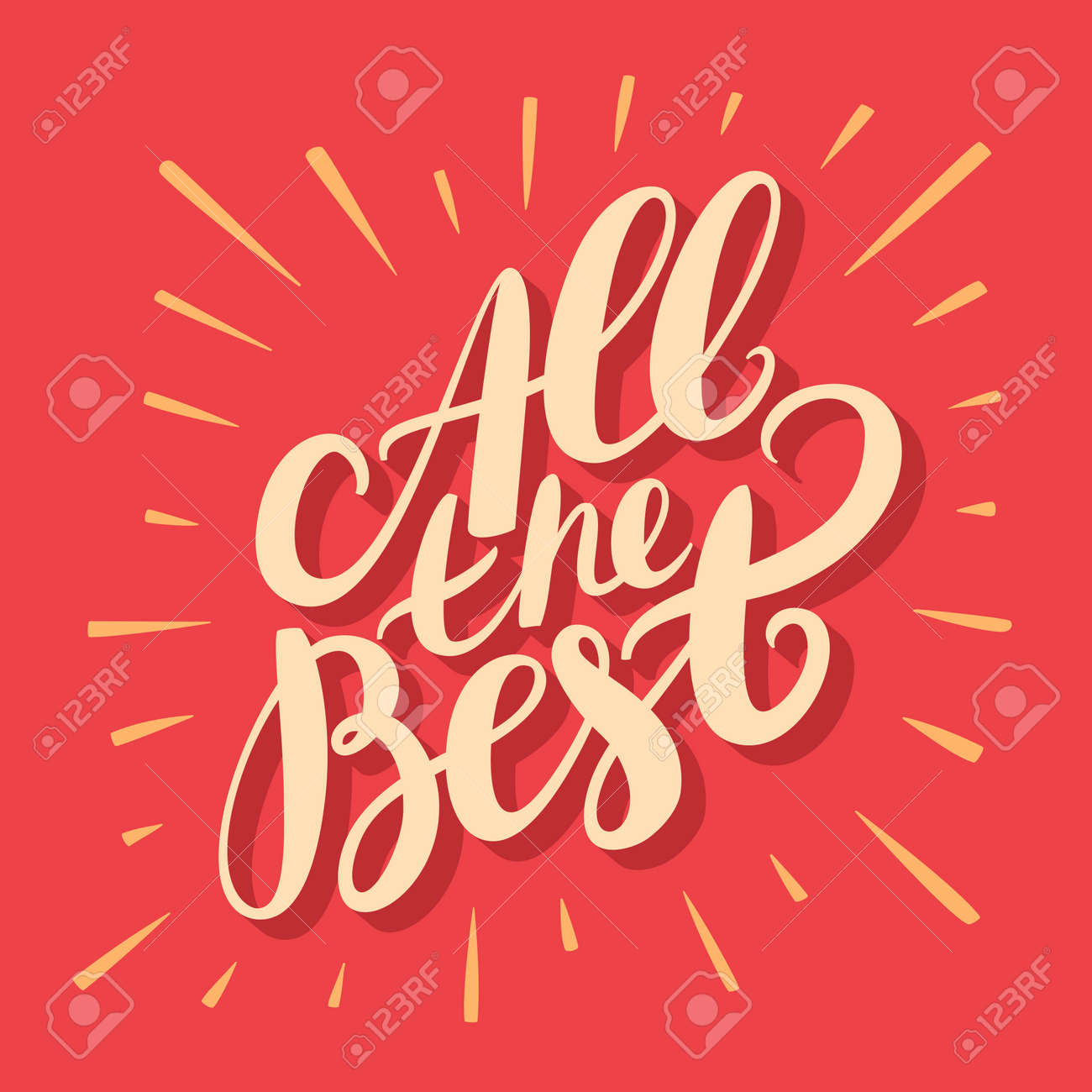 All the best greeting card hand lettering vector hand drawn all the best greeting card hand lettering vector hand drawn illustration stock kristyandbryce Image collections