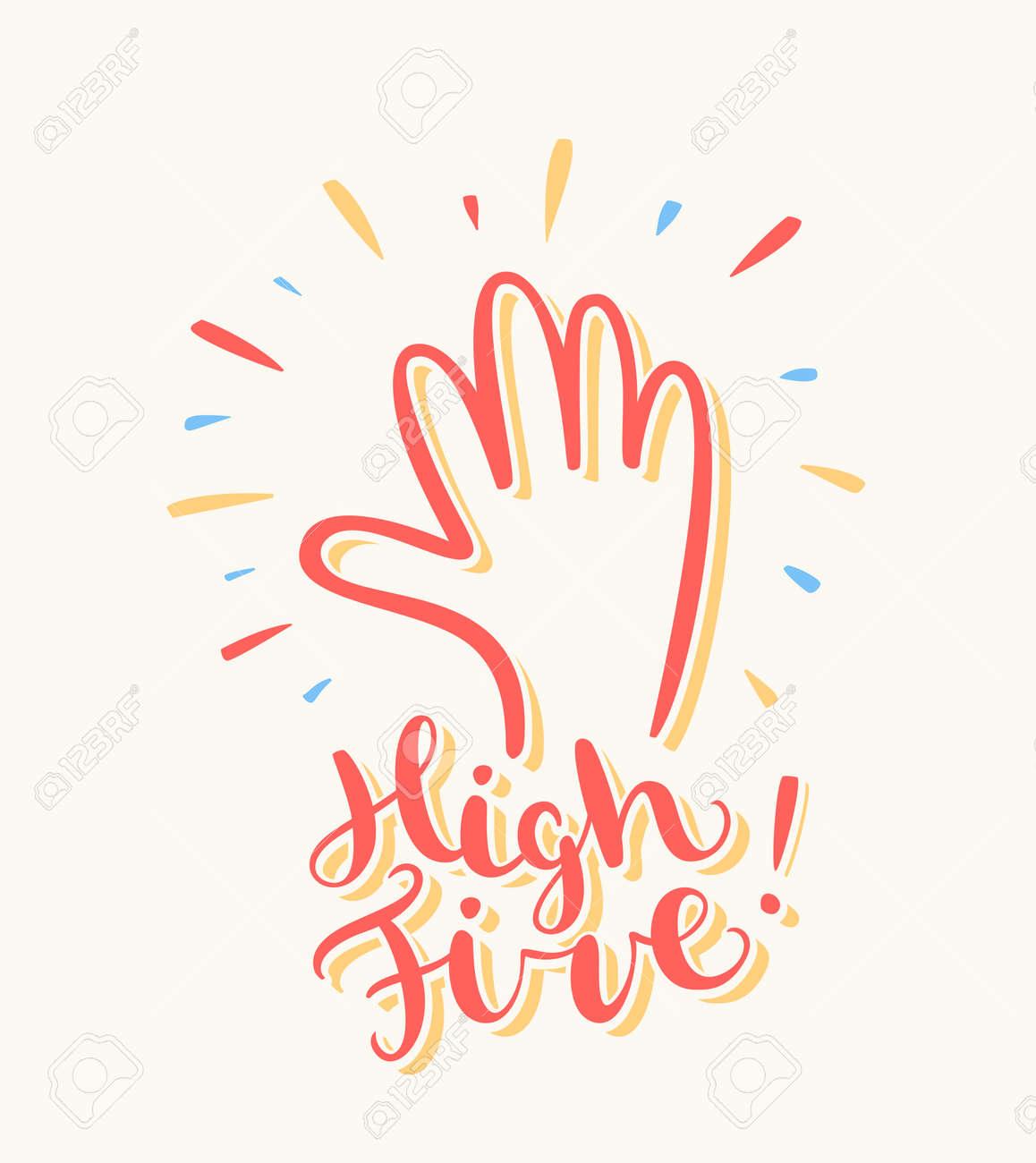 High five. Greeting card. - 51374095