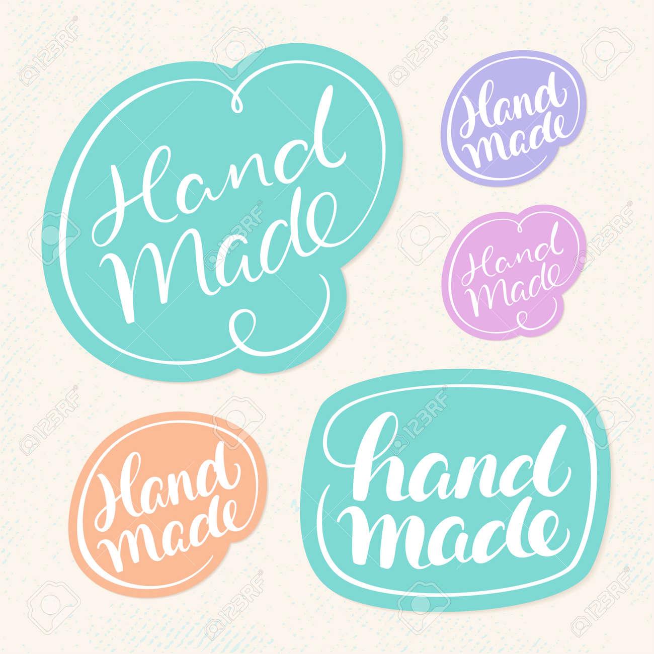 handmade soap labels hand lettering vector hand drawn illustration stock vector 67177366