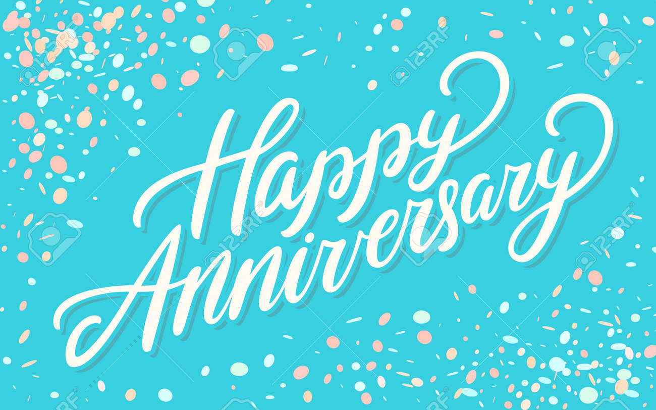 Happy Anniversary Greeting Card Royalty Free Cliparts Vectors