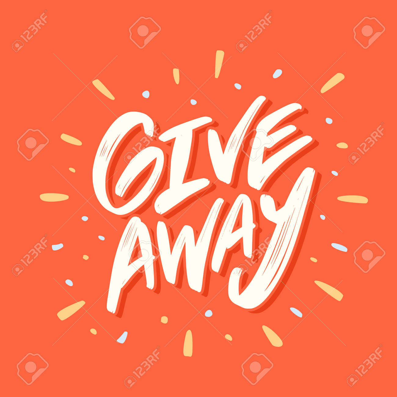 giveaway banner royalty free cliparts vectors and stock