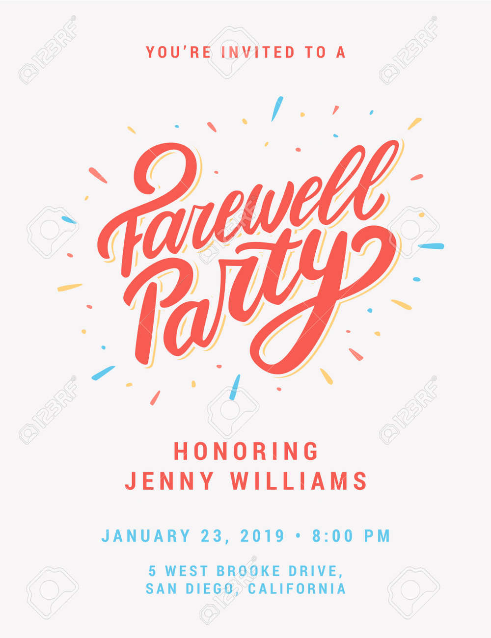 Farewell Party Invitation Royalty Free Cliparts Vectors And Stock