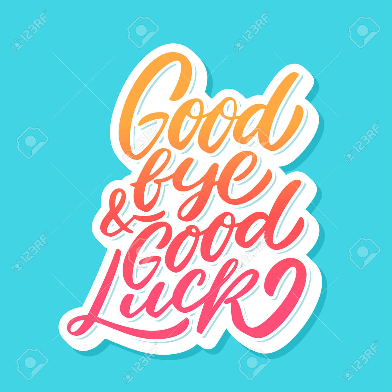 Goodbye and Good luck. Farewell card. - 104587209
