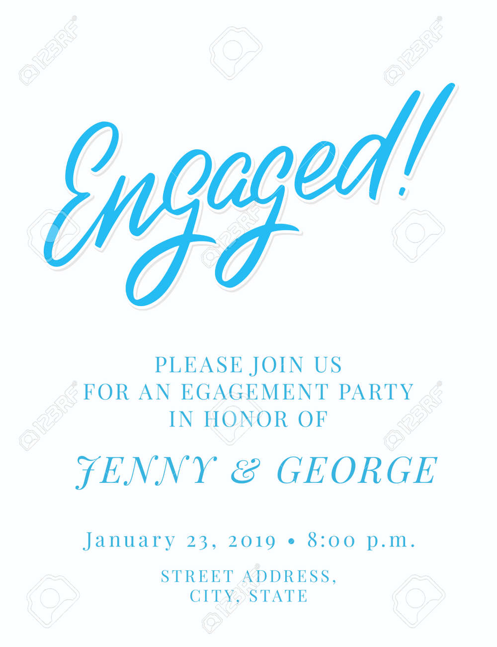 Free Engagement Party Invitation Template from previews.123rf.com